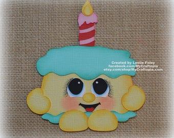Cake Shopkins Birthday Premade Scrapbooking Embellishment Paper Piecing