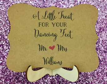 Flip Flops Wedding Sign, Custom and Personalised, Dancing Shoes