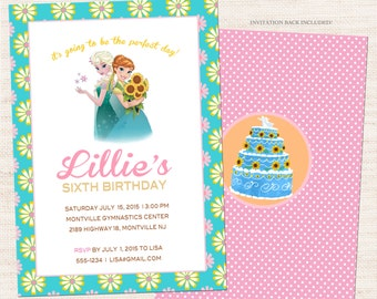 Frozen Fever Invitation | Frozen Fever Party Invitation Printable | Girl Birthday | Gracie Lee Design