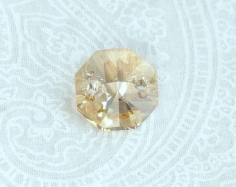 12mm Swarovski Sew On Crystal Crystal Golden Shadow Swarovski Crystal Swarovski Octagon Crystal Bead