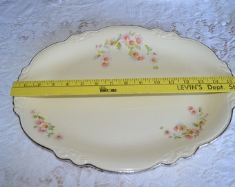 Virginia Rose 15 Inch  Oval Serving Platter  by Homer Laughlin
