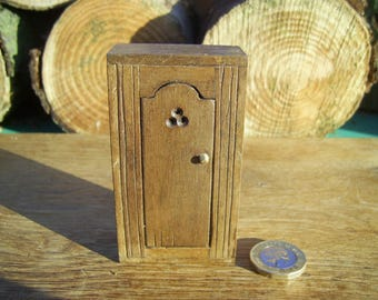 1/12th scale dollhouse miniature medieval/tudor carved wall cabinet
