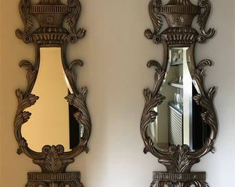 A pair of Vintage Antique long mirrors