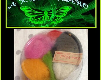 30 g wool felting 100% New Zealand multicolor