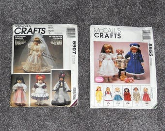 McCall's Crafts Patterns - Victorian Doll Clothes & GOTZ Patterns 5907 and 8555 - Year 1995 and 1996