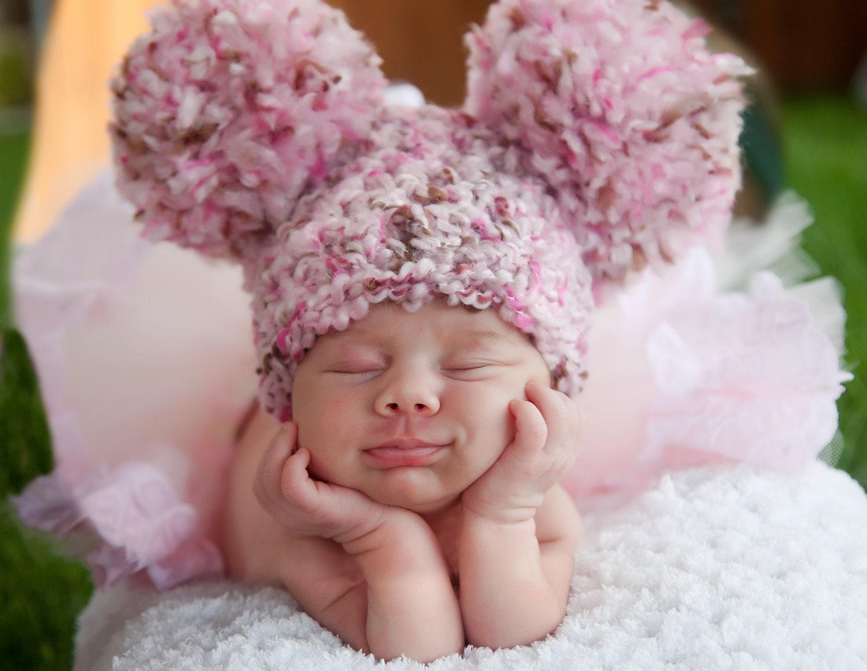 daa26f3f86f Completely new Pink Baby Hat Newborn Baby Girl Hat Newborn Baby Hat Pink  and YG18