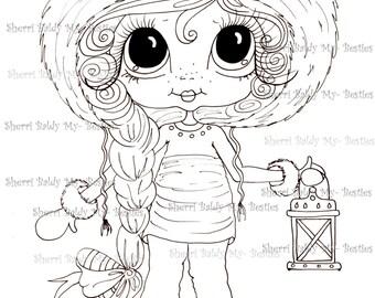 INSTANT DOWNLOAD Digital Digi Stamps Big Eye Big Head Dolls NEW Bestie IMG878 My Besties  By Sherri Baldy