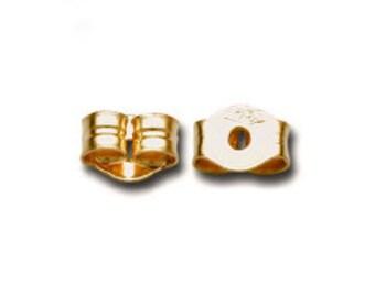 100% Recycled Yellow Gold Butterfly Ear Nut. One Pair. Earrings Back. 2 pcs. Earbacks. Choose Your Desired Karat. 14K or 18K.