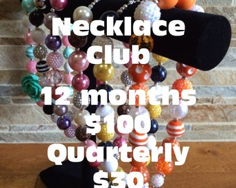 Bubblegum Necklace Club, Necklace of the Month, Chunky Necklace Membership, Surprise Gumball Necklace, Toddler Girls Necklace, Gift Idea