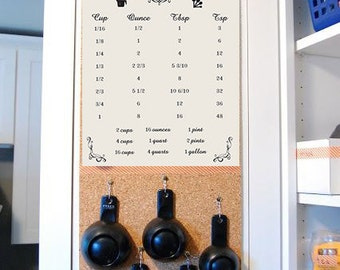 Kitchen Cooking Conversions - Printable Instant Download! Graphic Design Measurements Print File