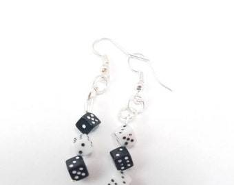 Mini Dice Earrings - Board Game Jewelry, Dice Jewelry, Board Game Earrings, Geeky gifts, Nerdy, Board Game Geek