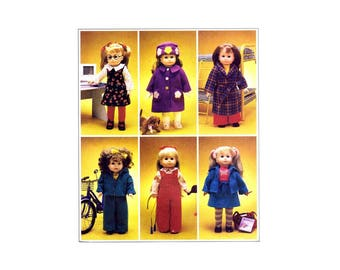 "18"" Doll Clothes and Dog McCalls 2506 Sewing Pattern UNCUT Fits American Girl Dolls"