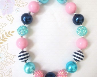 Baby Girl Chunky Necklace, Girls Bubblegum Chunky Necklace, Toddler Chunky necklace,Girls Bubble Gum Bead Necklace,Children Necklace