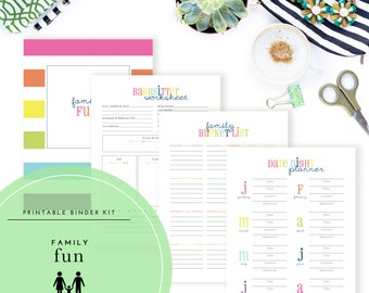 Family Fun Binder Kit  - A Printable PDF
