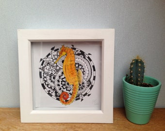 """Seahorse print (6""""x6"""")"""