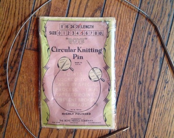 """Vintage Boye Circular Knitting Pin Needles Size 5 29"""""""