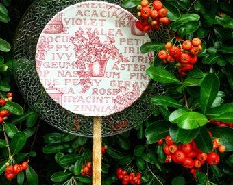 Garden Lovers Delight • Yard Art • Glass Garden Flower • Floral • Vintage Repurposed Glass & China Deco • Gardener