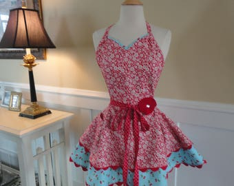 Rose Red   ~Sadie Style Women's Apron ~ 4RetroSisters
