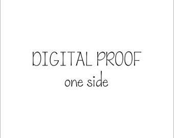Digital Proof - Single Side - Single Digital Proof