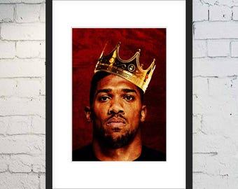 Anthony Joshua Print / Boxing Art / Sports Print / Framed or Unframed / Boxing Poster / AJ / Wembley