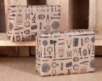 Manly Wrapping Paper / 12 Sheets
