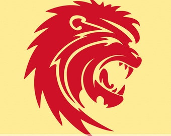 Roaring Lion Head Vinyl Wall Decal Big Cat LN002