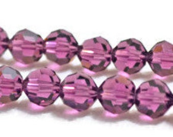 Swarovski Crystal Round Beads 6mm -Amethyst- Article 5000