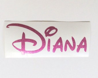 Personalised Name Vinyl Decal, Disney Name Sticker