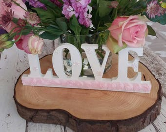 Handmade Wedding, LOVE Letters, Wooden LOVE Sign, Vintage Wedding, Letters, Love, Wooden Wedding Decorations, Wedding Gift, Valentines Day