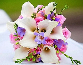 Artificial Wedding Bouquet Alternative, Artificial Flower Bouquet, Bridesmaid Flowers, Bridesmaid Accessory