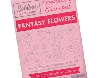 Flower Embroidery Design | Sublime Stitching Embroidery Patterns, Reusable Iron On Transfer Pattern - Fantasy Flowers