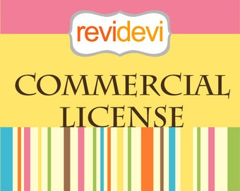Revidevi Commercial License - for no credit required - for 1 clip art set