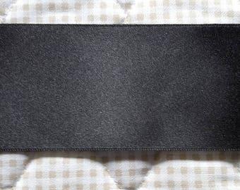 Ribbon SATIN Double sided black 40 mm - length 1 m 80