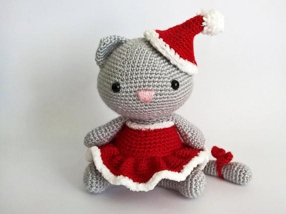 Easy Christmas Amigurumi : Items similar to christmas crochet cat amigurumi cats crochet