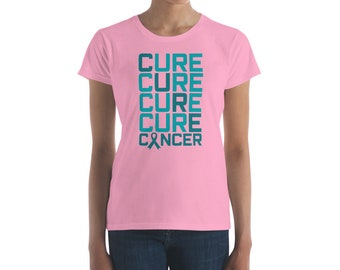 Cure Cure Cure Cancer Shirt-Breast Cancer Survivor Shirt-Cancer Awareness T Shirt-Pink Ribbon Gifts For Women Charity-Fight Cancer-Breast ca