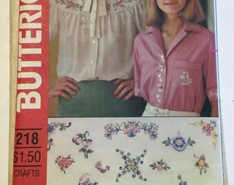 Butterick Embroidery Pattern 218