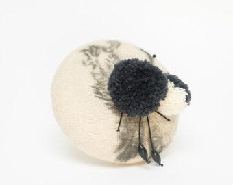 Cream black bird eagle fascinator hat headpiece wedding bridesmaid ascot races goodwood boho vintage hippie  unique