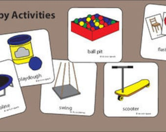 Private Therapy Activities Picture Cards