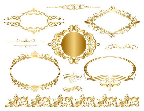 vintage gold frame border