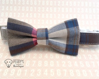 Vintage Plaid Bow Tie and Collar