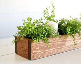 Planter Box Centerpiece - Flower Box, Centerpiece, Wedding Centerpiece, Wedding Decor, Mantle, Mantle Decor, Rustic Decor, Farmhouse Decor