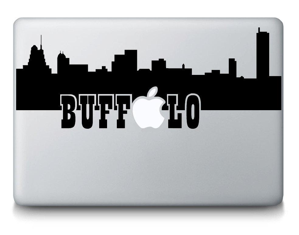 Buffalo New York Skyline City Silhouette Apple MacBook Mac - Custom vinyl decals buffalo ny