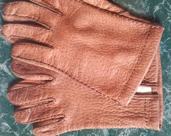 Vintage, gloves, gloves, leather, suede, Rusty, Russt, T45