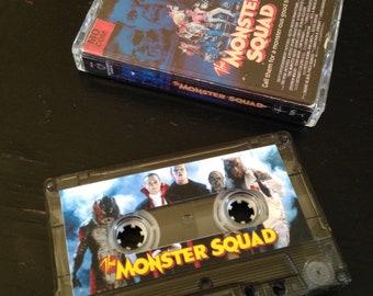 Monster Squad cassette tape with VHS art.