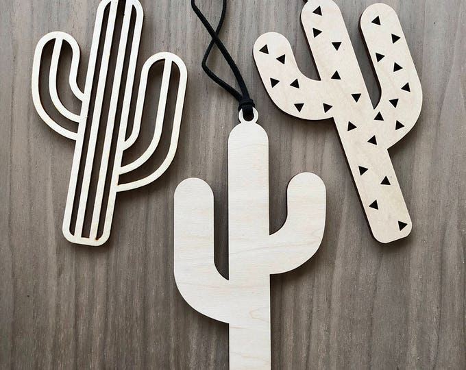 Cactus Ornament & Tag - Acrylic or Wood