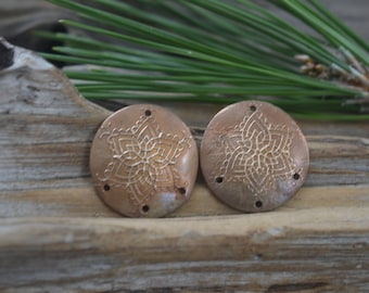 Snowflakes- Handmade Domed Bronze Components