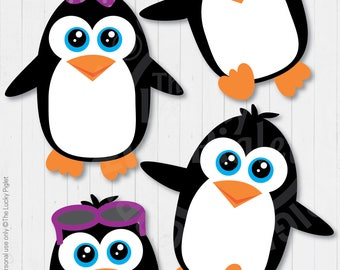 "PENGUIN PARTY DECORATION, Penguin Party Centerpieces, Penguin Cut Outs, Penguin Birthday Printables, Baby Shower, 6"" tall 