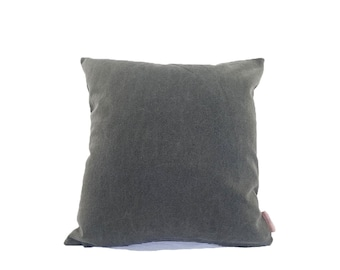Grey Cotton Fabric Large Cushion Cover    Free UK Delivery