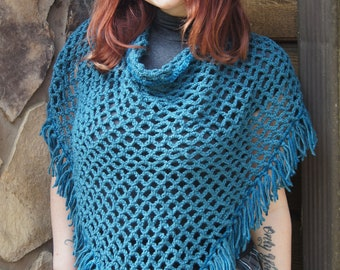 Crocheted Lattice Back Style Shawl