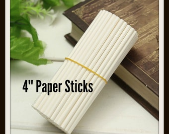 25/100 Lollipop Sticks ( 4 inch ) White .. Baking Sticks, Candy Sticks, Cookie Sticks, Lollipop Sticks, Paper Baking Sticks